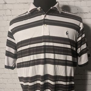 MENS MEDIUM Polo Golf Ralph Lauren Gray/White